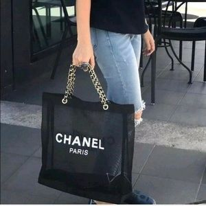 🆕Authentic Chanel VIP Mesh Tote Shoulder Bag Tote